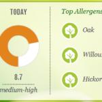 hay fever forecast